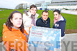 UNITED AGAINST FEES: Protesting students from Tralee IT who are planning a protest on November 20th. Pictured are Katie Sheehy (vice president of the students union IT Tralee) with fellow students Linda McCarthy (Business studies), Tanju Odabasi (Tourism) and Natalie Murphy (Business studies). .   Copyright Kerry's Eye 2008