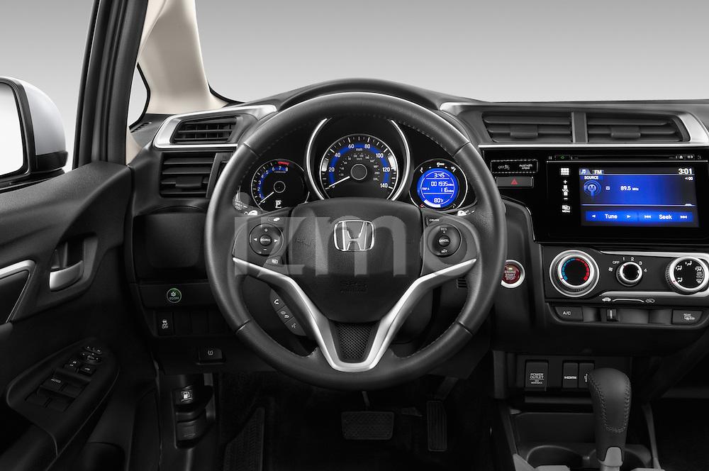 Car pictures of steering wheel view of a 2017 Honda Fit EX 5 Door Hatchback Steering Wheel
