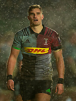 Harlequins' James Lang<br /> <br /> Photographer Bob Bradford/CameraSport<br /> <br /> European Rugby Challenge Cup Pool 5 - Harlequins v Benetton Treviso - Saturday 15th December 2018 - Twickenham Stoop - London<br /> <br /> World Copyright &copy; 2018 CameraSport. All rights reserved. 43 Linden Ave. Countesthorpe. Leicester. England. LE8 5PG - Tel: +44 (0) 116 277 4147 - admin@camerasport.com - www.camerasport.com