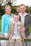 Children from Blennerville National School who received their First Communion at St. Brendans Church, Curraheen on Saturday Darragh Sheehan with Parents Cathy and Tony