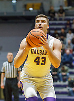 University at Albany men's basketball defeats Maine at the  SEFCU Arena, Feb. 24, 2018.  Greg Stire (#43). (Bruce Dudek / Eclipse Sportswire)