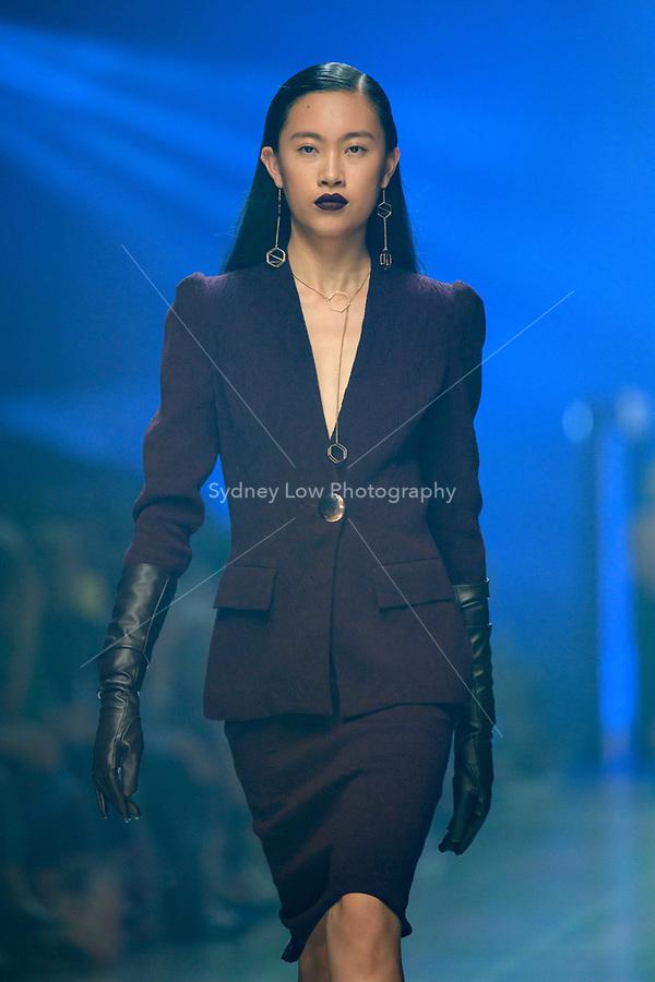 8 March 2018, Melbourne - Models showcase designs by Ginger & Smart during the Virgin Australia Grand Showcase show at the 2018 Virgin Australia Melbourne Fashion Festival in Melbourne, Australia. (Photo Sydney Low / asteriskimages.com)