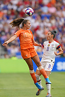 LYON, FRANCE - JULY 07: Lieke Martens #11, Ali Krieger #11 during the 2019 FIFA Women's World Cup France final match between the Netherlands and the United States at Stade de Lyon on July 07, 2019 in Lyon, France.