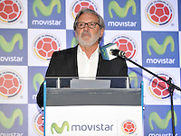 BOGOTA - COLOMBIA - 13-04-2015: Ariel Ponton, CEO de Movistar Colombia, durante la renovación del patrocinio de Movistar como socio oficial de la Selección Colombia de Futbol. / Ariel Ponton, CEO of Movistar Colombia, during the renewal of Movistar as sponsorship as official partner of Colombia Soccer Team.  / Photo: VizzorImage / Luis Ramirez / Staff.