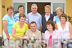 St Joesphs Day Care Centre presents the Killarney branch of the Irish Cancer Society a cheque of EUR2,300 which they raised by having a coffee morning on Daffodil Day last Thursday front row l-r: Breda McAulliffe, Eugene O'Sullivan, Eileen O'Donoghue, Ann Moynihan. Back row: Eileen O'Leary, Grace Crowley, Tim Moriarty, Rose O'Brien and Joan Doherty