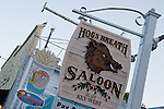 Famous Hog's Breath Saloon sign.
