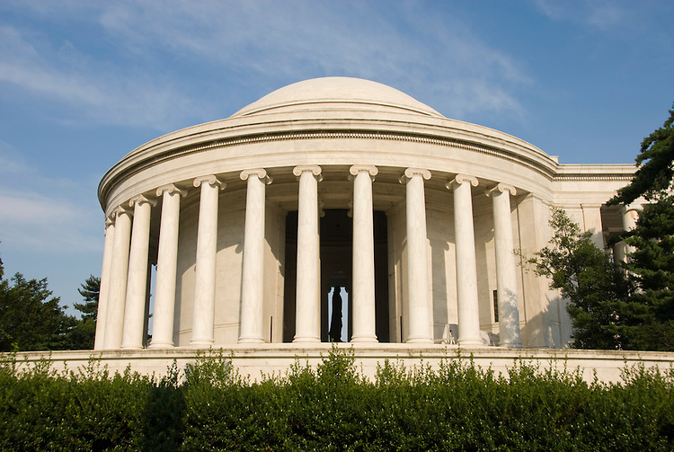 Washington DC; USA: The Thomas Jefferson Memorial, with his statue in a rotunda at the Tidal Basin.Photo copyright Lee Foster Photo # 6-washdc82693