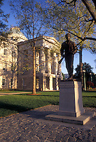 Raleigh, State Capitol, NC, State House, North Carolina, Henry Lawson Wyatt statue outside The North Carolina State Capitol Building in Raleigh.
