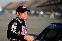 Oct. 9, 2009; Fontana, CA, USA; NASCAR Sprint Cup Series driver Regan Smith during qualifying for the Pepsi 500 at Auto Club Speedway. Mandatory Credit: Mark J. Rebilas-