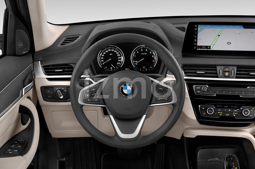 Car pictures of steering wheel view of a 2020 BMW X1 X-Line 5 Door SUV Steering Wheel