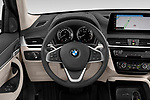 Car pictures of steering wheel view of a 2020 BMW X1 X-Line 5 Door SUV Steering Wheel