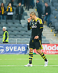 ***BETALBILD***  <br /> Stockholm 2015-05-25 Fotboll Allsvenskan Djurg&aring;rdens IF - AIK :  <br /> AIK:s Panajotis Dimitriadis ser nedst&auml;md ut efter matchen mellan Djurg&aring;rdens IF och AIK <br /> (Foto: Kenta J&ouml;nsson) Nyckelord:  Fotboll Allsvenskan Djurg&aring;rden DIF Tele2 Arena AIK Gnaget depp besviken besvikelse sorg ledsen deppig nedst&auml;md uppgiven sad disappointment disappointed dejected