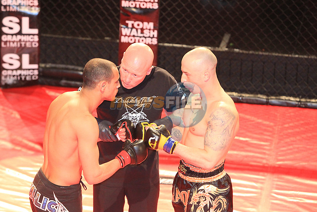 Yazid Kerfah and Alex Muzicuk during the Sprawl Fighting Championship in the TLT..Picture www.newsfile.ie