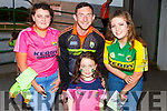 Daithi Casey with Caitlin and Ava O'Sullivan and Eimear Doyle at the Kerry Supporters Dog Night in the Kingdom Greyhound Track on Friday night.