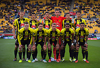 The Phoenix starting XI before the A-League football match between Wellington Phoenix and Adelaide United FC at Westpac Stadium in Wellington, New Zealand on Sunday, 8 October 2017. Photo: Dave Lintott / lintottphoto.co.nz