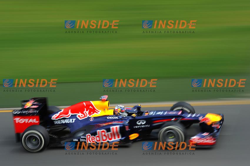 SEBASTIAN VETTEL (ALL) REDBULL RENAULT RB8..Melbourne 15/3/2012 Gp Australia.Formula 1 2012 .Foto Insidefoto / Bernard Asset / Panoramic.ITALY ONLY
