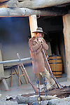 FRONTIERSMAN LEANS ON MUSKET at BENT's OLD FORT