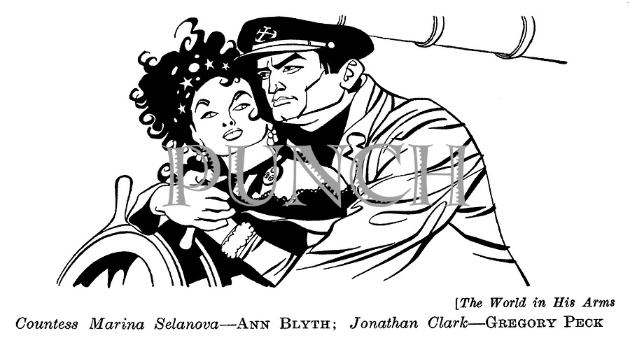 The World in His Arms ;  Ann Blyth and Gregory Peck