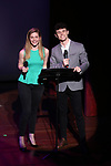 Molly Griggs and Charlie Stemp on stage during The Fourth Annual High School Theatre Festival at The Shubert Theatre on March 19, 2018 in New York City.