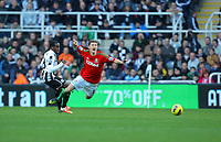 Saturday 17 November 2012<br /> Pictured: Ben Davies of Swansea (R) is fouled by Vurnon Anita of Newcastle (L) <br /> Re: Barclay's Premier League, Newcastle United v Swansea City FC at St James' Park, Newcastle Upon Tyne, UK.