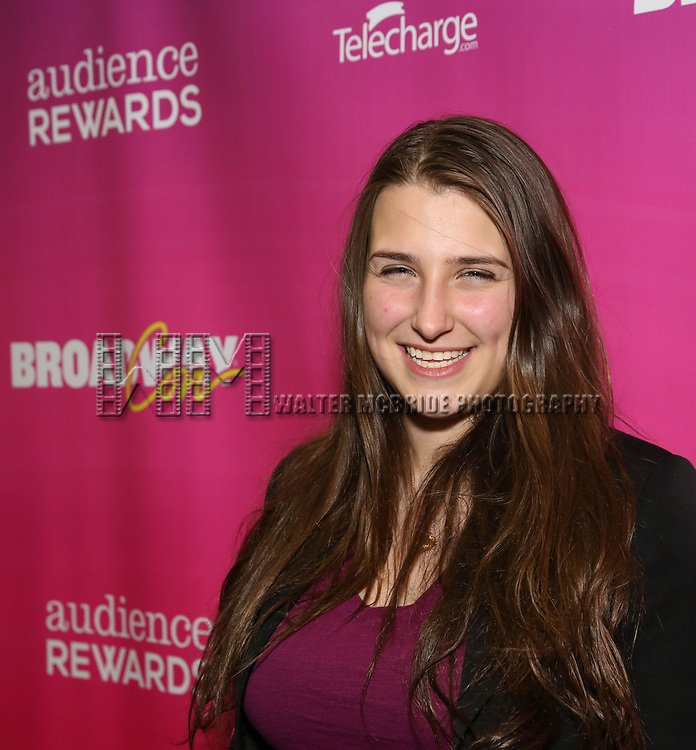 Leah Comley attends the BroadwayHD panel discussion at Broadwaycom 2018 on January 26, 2018 at Jacob Javitz Center in New York City.