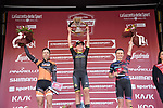 Annemiek van Vleuten (NED) Mitchelton-Scott Women wins the Strade Bianche Women Elite 2019 ahead of Annika Langvad (DEN) Boels Dolmans Cycling Team and Katarzyna Niewiadoma (POL) Canyon-SRAM Racing, running 133km from Siena to Siena, held over the white gravel roads of Tuscany, Italy. 9th March 2019.<br /> Picture: LaPresse/Gian Matteo D'Alberto | Cyclefile<br /> <br /> <br /> All photos usage must carry mandatory copyright credit (© Cyclefile | LaPresse/Gian Matteo D'Alberto)
