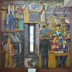 1934 WPA mural in Coit Tower, San Francisco, CA featuring newsgathering. (Bob Gathany/bgathany@AL.com)Bob & Lou's trip to California Nov. 2015. (Bob Gathany Photographer)