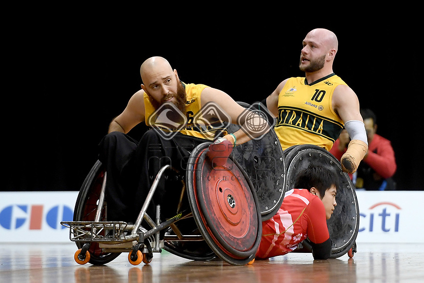 Michael Ozanne (AUS) vs Japan<br /> Australian Wheelchair Rugby Team<br /> 2018 IWRF WheelChair Rugby <br /> World Championship / Day 4<br /> Sydney  NSW Australia<br /> Wednesday 8th August 2018<br /> &copy; Sport the library / Jeff Crow / APC
