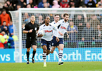 Preston North End's Daniel Johnson celebrates after scoring his side's equalising goal from the penalty spot to make the score 2 - 2<br /> <br /> Photographer Rich Linley/CameraSport<br /> <br /> The EFL Sky Bet Championship - Preston North End v Blackburn Rovers - Saturday 26th October 2019 - Deepdale Stadium - Preston<br /> <br /> World Copyright © 2019 CameraSport. All rights reserved. 43 Linden Ave. Countesthorpe. Leicester. England. LE8 5PG - Tel: +44 (0) 116 277 4147 - admin@camerasport.com - www.camerasport.com