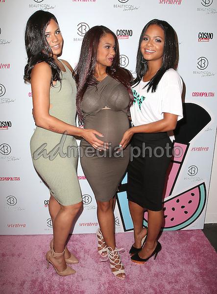 11 July 2015 - Los Angeles, California - Christina Milian, Danielle Flores, Elizabeth Flores. 4th Annual BeautyCon LA Festival held at The Reef DTLA. Photo Credit: F. Sadou/AdMedia