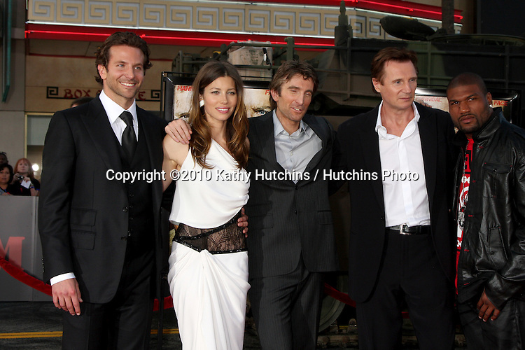 """Bradley Cooper, Jessica Biel, Liam Neeson, Sharlto Copley, Quinton `Rampage` Jackson.arrives at the """"A-Team""""  Premiere.Grauman's Chinese Theater.Los Angeles, CA.June 3, 2010.©2010 Kathy Hutchins / Hutchins Photo.."""