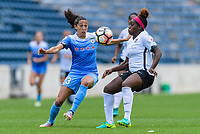 Bridgeview, IL - Sunday June 25, 2017: Christen Press, Mandy Freeman during a regular season National Women's Soccer League (NWSL) match between the Chicago Red Stars and Sky Blue FC at Toyota Park.