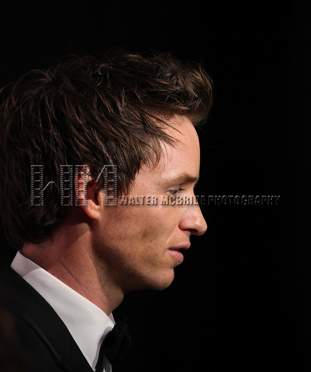 Eddie Redmayne attending The Museum of Moving Image salutes Hugh Jackman at Cipriani Wall Street in New York on December 11, 2012