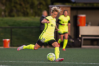 Allston, MA - Sunday, April 24, 2016: Seattle Reign FC midfielder Jessica Fishlock (10). The Boston Breakers play Seattle Reign during a regular season NSWL match at Harvard University.