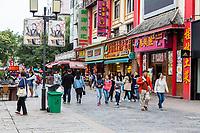 Guilin, China.  Pedestrian Shopping Street.