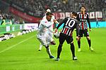 06.10.2019, Commerzbankarena, Frankfurt, GER, 1. FBL, Eintracht Frankfurt vs. SV Werder Bremen, <br /> <br /> DFL REGULATIONS PROHIBIT ANY USE OF PHOTOGRAPHS AS IMAGE SEQUENCES AND/OR QUASI-VIDEO.<br /> <br /> im Bild: Theodor Gebre Selassie (#23, SV Werder Bremen), Filip Kostic (Eintracht Frankfurt #10)<br /> <br /> Foto © nordphoto / Fabisch
