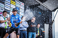 Sean De Bie (BEL/Veranda's Willems Crelan) on the podium after finishing 3th place.<br /> <br /> 71th Halle Ingooigem 2018 (1.1)<br /> 1 Day Race: Halle > Ingooigem (197.7km)