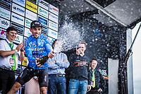 Sean De Bie (BEL/Veranda's Willems Crelan) on the podium after finishing 3th place.<br /> <br /> 71th Halle Ingooigem 2018 (1.1)<br /> 1 Day Race: Halle &gt; Ingooigem (197.7km)