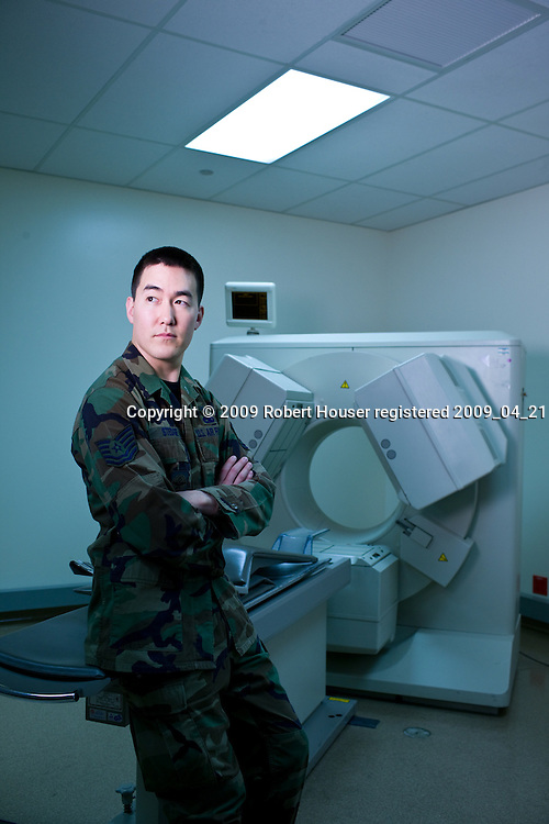 Tech. Sgt. Leland Stedge III - PACS administrator - David Grant USAF Medical Center: Executive portrait photographs by San Francisco - corporate and annual report - photographer Robert Houser.