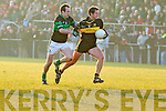 Eoin Brosnan Dr. Crokes v Peter Morgan Nemo Rangers in their AIB Senior Club Football Championship Munster Final at Mallow GAA Grounds on Sunday 30th January 2011.