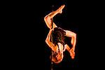 Lundi 14 Septembre 2009. Paris, France..Premiere competition Officielle de Pole Dance en France..20eme Theatre (Paris 20eme)..Keem Martinez (Champion Homme)
