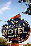 The Maples Motel classic motel sign.
