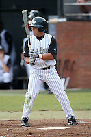 February 21, 2010:  Right Fielder Sean Emory (7) of the Stetson Hatters during the teams opening series at Melching Field at Conrad Park in DeLand, FL.  Photo By Mike Janes/Four Seam Images
