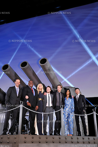 Battleship cast members, Apr 03, 2012 : TOKYO, JAPAN - actors attends the 'Battleship' Japan Premiere at International Yoyogi first gymnasium on April 3, 2012 in Tokyo, Japan.