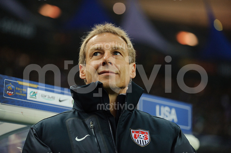 Fussball international 2011 Freundschaftsspiel Frankreich - USA Trainer Juergen KLINSMANN (USA).