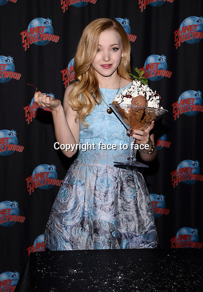 NEW YORK, NY - JANUARY 13: Actress Dove Cameron Visits Planet Hollywood Time Square to Promote Disney Channel Original Film 'Cloud 9' and to celebrate her 18th birthday, in New York City on January 13, 2014 in New York City. <br /> Credit: MediaPunch/face to face<br /> - Germany, Austria, Switzerland, Eastern Europe, Australia, UK, USA, Taiwan, Singapore, China, Malaysia, Thailand, Sweden, Estonia, Latvia and Lithuania rights only -