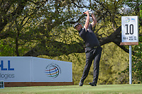 Jon Rahm (ESP) watches his tee shot on 12 during day 1 of the WGC Dell Match Play, at the Austin Country Club, Austin, Texas, USA. 3/27/2019.<br /> Picture: Golffile | Ken Murray<br /> <br /> <br /> All photo usage must carry mandatory copyright credit (© Golffile | Ken Murray)