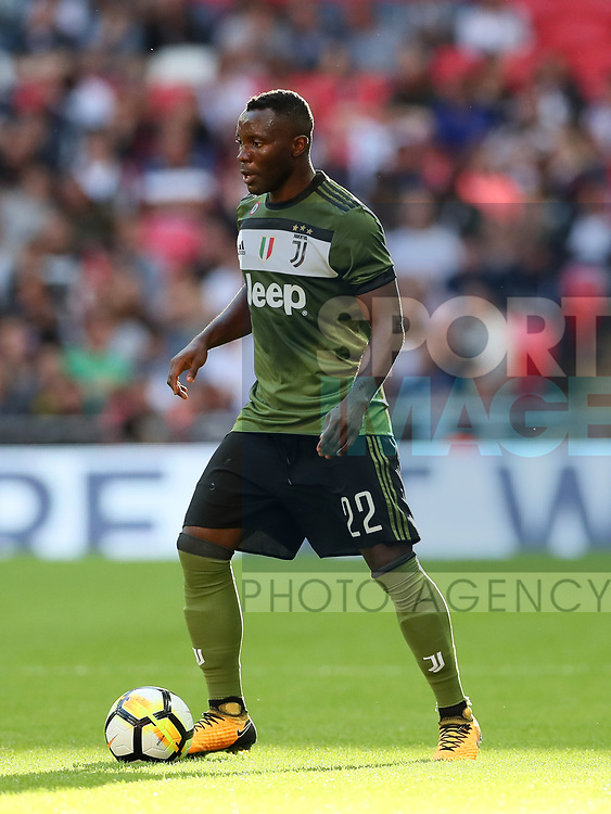 Juventus Kwadwo Asamoah in action during the pre season match at Wembley Stadium, London. Picture date 5th August 2017. Picture credit should read: David Klein/Sportimage