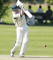 Sam Bardon bats for North London during the Middlesex County Cricket League Division Three game between North London and South Hampstead at Park Road, Crouch End on Sat June 21, 2014.