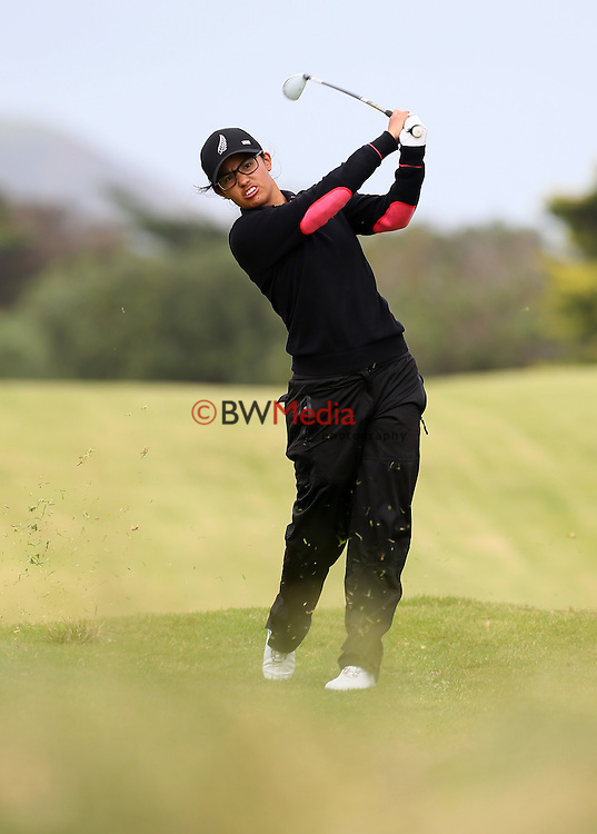 Julianne Alvarez during the Autex Muriwai Open, Round One, Charles Tour, Muriwai Golf Course, Auckland, New Zealand. Thursday 30 April 2015. Photo: Simon Watts/www.bwmedia.co.nz <br /> All images &copy; NZ Golf and BWMedia.co.nz New Zealand Golf Images:<br /> Any use of New Zealand Golf images must have prior written approval of New Zealand Golf.